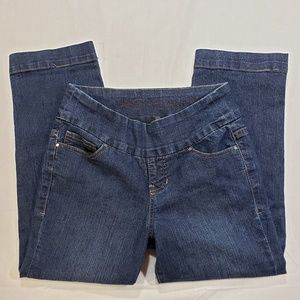 JAG Jeans stretch pull on crop blue Jeans sz 4